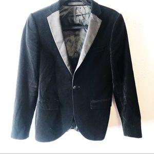 Topman velvet tuxedo jacket blazer black size 36r